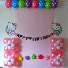 home design birthday decoration ideas at home with balloons