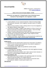 Sample Resume For Mba Finance Freshers by Example Template Of An Excellent Mba Finance U0026 Marketing Resume