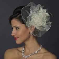 hair fascinator organza flower fascinator hair bridal hair accessories