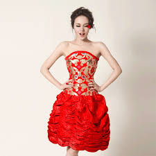 oriental wedding gown strapless ballerinia u0026 short oriental