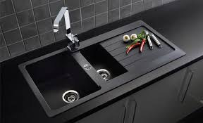 Kitchen Sink Black Granite Kitchen Sinks Uk 10713 With Regard To Awesome Property