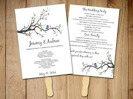 free printable wedding program fans diy wedding program fan template rustic ceremony program