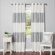 Thermal Curtain Lining Which Side Out Best Home Fashion Inc Grommet Striped Blackout Thermal Curtain