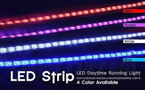 Marine Led Strip Lights 8 X Boat Marine Yacht Led Strip Lights 50cm Blue Flexible