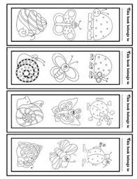 free printable coloring bookmarks coloring pages