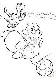 tiko running ball coloring free printable