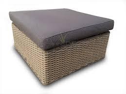 Basket Ottoman by Rattan Corner Sofa Ascot Modular Daybed Grey Cushions