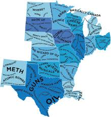 us map middle states the stereotype map of every u s state according to