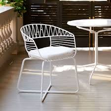 Soleil Patio Furniture Soleil Metal Bistro Chair West Elm