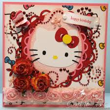 cabio u0027s craft corner first hello kitty birthday card