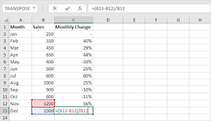 percentage calculator excel percent change formula in excel easy excel tutorial