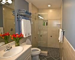 Tiled Bathroom Shower Bathroom Decorating Using Light Blue Bathroom Wall Paint Including