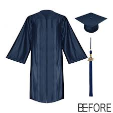 graduation gown and cap shiny navy blue bachelor gowns cap tassel graduation gown cap