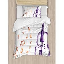 music themed queen comforter music notes bedding wayfair