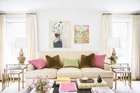 Curtains To Go With Grey Sofa 12 Ways To Decorate With The Color Pink Stylecaster