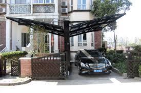 premium luxury aluminum alloy metal carport kit single car