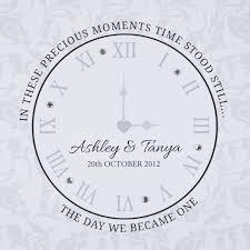 personalized wedding clocks 50pcslot wedding clock heart clock paperweight