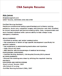 Sample Cna Resumes by Cna Resume Examples Cna Sample Resumes Cna Resume Template Free