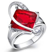 aliexpress buy anniversary 18k white gold filled 4 anel feminino princess cut gems 18k white gold filled