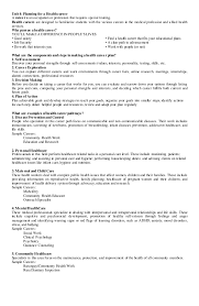 Profile For Resume Example by Mapeh Health