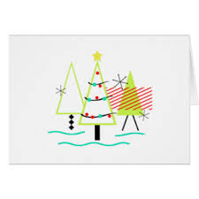 mid century modern greeting cards zazzle