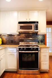 Narrow Kitchen Countertops Charming White Color Small Kitchen Cabinets Come With Grey Color