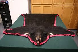 Polar Bear Fur Rug Black Bear Rug Taxidermy Bear Rug With Head Faux Fur Bear Skin Rug