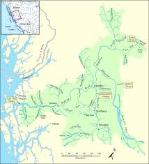 Congo River Map Skeena River Estuary