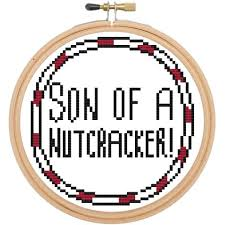 son of a nutcracker elf movie cross stitch download pattern and