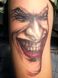 cool red black joker tattoo for hand evil joker tattoos the
