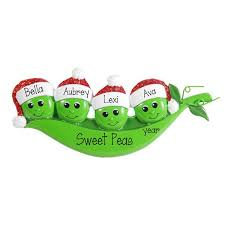 two peas in a pod ornament 4 peas in a pod ornament my personalized ornaments