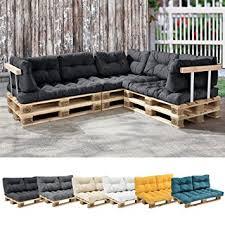 coussin pour canapé palette en casa 1x coussin de siège pour canapé palette gris foncé