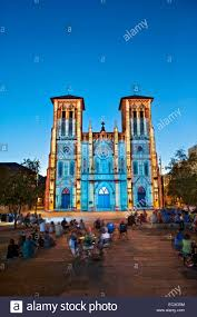 san fernando cathedral light show san fernando cathedral san antonio saga stock photos san fernando