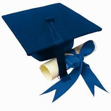 blue graduation cap passing the graduation cap turning fashion inside out