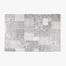patchwork effect cotton rug rugs bedroom zara home united