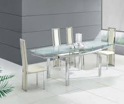 modern glass dining room tables inspiring well modern glass dining