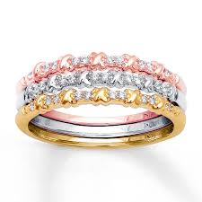 3 piece round wedding ring bands for her jewelocean com