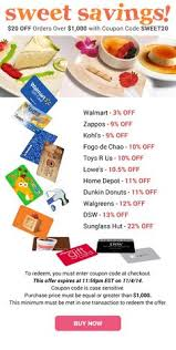 where to buy gift cards for less win fabulous gift cards just in time for shopping
