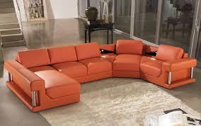 Modern Bonded Leather Sectional Sofa Divani Casa 2315 Modern Bonded Leather Sectional Sofa