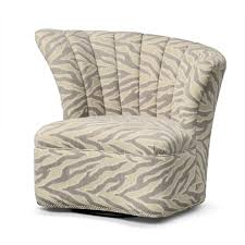 zebra swivel chair round white fabric aside wooden end table elegant homes showcase