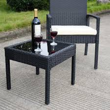 Rattan Patio Table And Chairs Goplus Hw53509 3 Ps Outdoor Rattan Patio Furniture Set Backyard