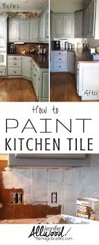 diy kitchen tile backsplash how to paint kitchen tile and grout an easy kitchen update diy