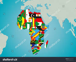 Map Of Africa Political by Political Map Africa Flags Stock Vector 467615714 Shutterstock