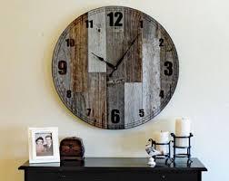 Giant Wall Clock Rustic Wall Clock Etsy