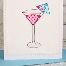 cocktail u0027 handmade personalised 30th birthday card by jenny arnott