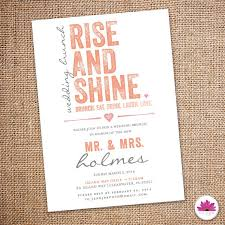 wedding brunch invitation wording day after rise and shine wedding brunch invitation digital file brunch