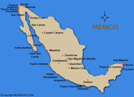 map of the mexico mexico driving and road maps mexbound