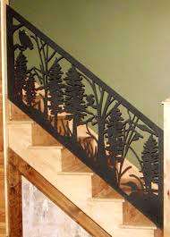 Stair Banister Rails Stair Railing Panel Custom Metal Work Alabama Metal Art