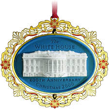 chemart 2000 white house christmas ornament ornaments u0026 toppers