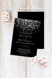 and black wedding invitations silver wedding invitations black wedding invitation printable